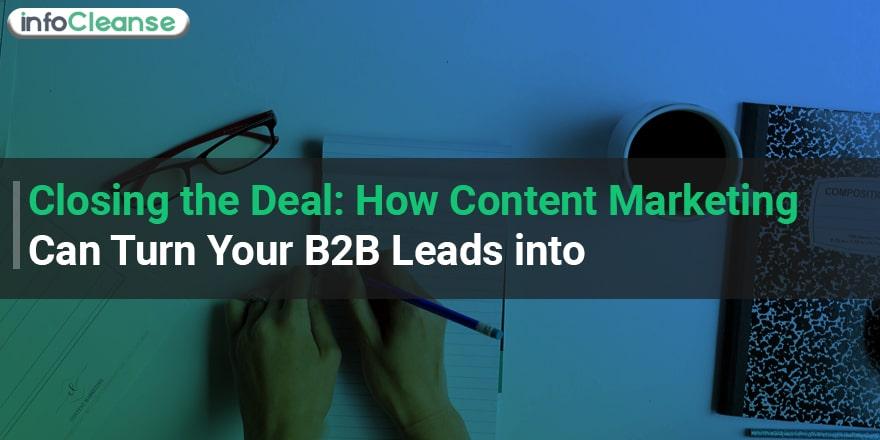 content marketing b2b leads