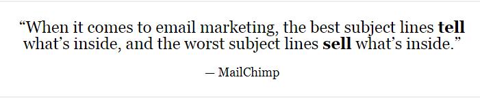 MailChimp Quote